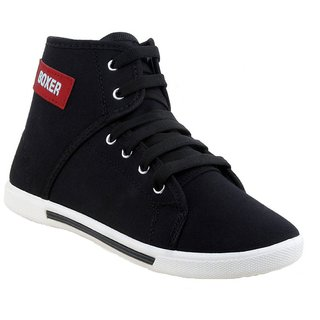 Super kids (boy) black 1212 casual sneaker loafer sports boots shoes