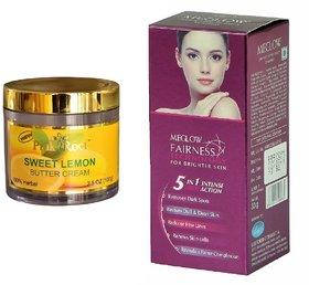 Meglow Fairness 5in1 Intense Action 50g, Pink Root Sweet Lemon Butter Cream 100gm