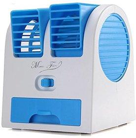 Mini Fan Air Cooler with Water Tray Portable Desktop Dual Bladeless Air Cooler USB super Fan
