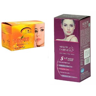 Meglow Fairness 5in1 Intense Action 50g, Pink Root Orange Bleach 250g