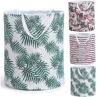 Smile Mom Laundry Basket/Bag/Hamper for Clothes with Handle  Drawstring Closure, Foldable for Home Bathroom Bedroom