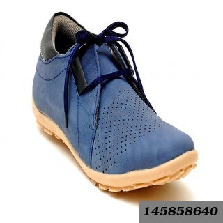 Casual Footwear Blue Designer Shoes For Men