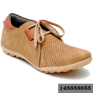 Men's Tan Casual Lace Up Shoes