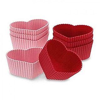 Skywalk Muffin Cupcake Mould Heart 6 piece