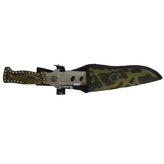 ANTIQUE  NM-08 Fixed Blade Outdoor  With LED Torch and safety cover(18 cm)