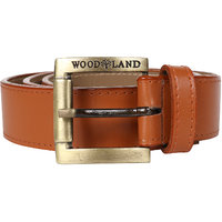 Woodland Men Artificial Leather Casual Tan Belt