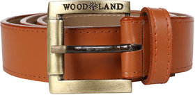 Woodland Men Artificial Leather Casual Tan Belt