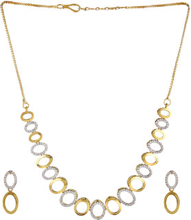 78f9d742adcd01 Kalavi Gold Plated Necklace Set for Women/Party wear Jewellery Set with  Earrings for Girls/Women