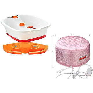blushia Foot Spa Pedicure Tub Massager With Cap Steamer