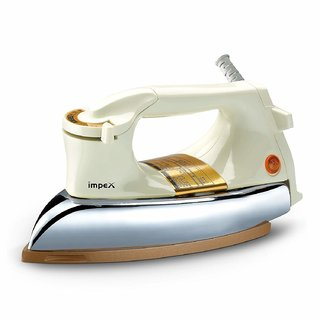 Impex IB 22 Heavy Weigh Dry Iron Box (Cream and Golden)