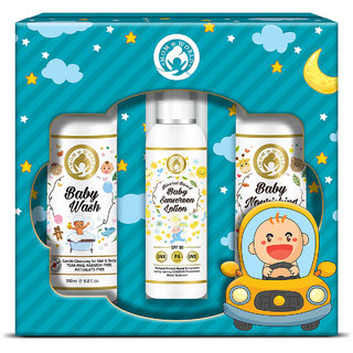 Mom World Baby Boy Kit - Baby Wash + Baby Sunscreen Lotion + Baby Nourishing Lotion