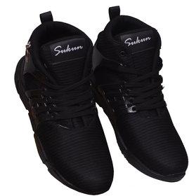 Sukun Long Men's Black Sport Shoes