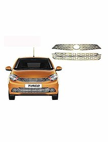 Chrome Plated, Bently Style Bumper Grill for Tata TIAGO set of 2