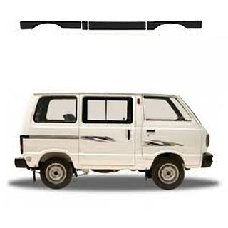 Side Door Beading set For Maruti OMNI Matt Black in Plastic Material