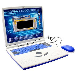 Toy English Learner Educational laptop Notebook, Computer with 22 Activities  Games including mouse for kids