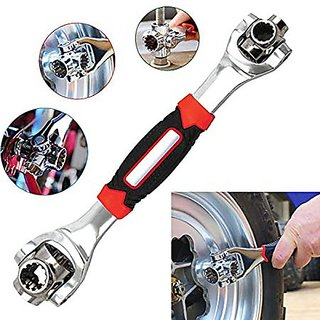 Skys and Ray 48-in-1 Universal Tiger Wrench + Snap N Grip Spanner Handy tools socket wrench set Stainless Double Sided C