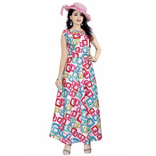 HSFS WOMAN'S DIGITAL PRINTED DRESS