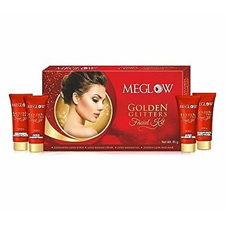 Meglow Golden Glitters Facial Kit(Buy 1 Get 1 Free Offer)