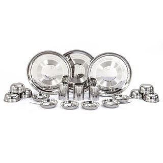 Kpro Stainless Steel Dinner Set - 24 Pcs