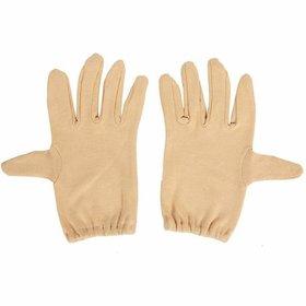 Nawani Bike Riding Protective Cotton Gloves Skin Half for Men and Women