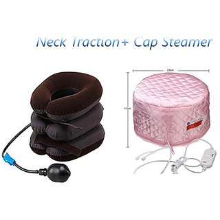 Neck Traction Cervical Solution With Cap Steamer