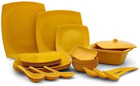 Abon 32 pcs Melamine Yellow Dinner set