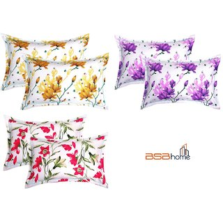 BSB HOME 6 Piece Cotton Pillow Cover Set - 20x30