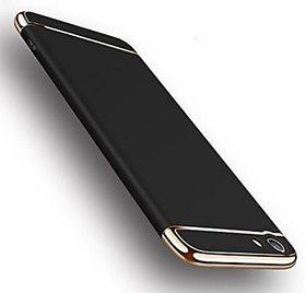 MOBIMON VIVO Y55 Hard PC Shell Electroplate Matte 3 in 1 Anti Scratch Proof 360 Degree Back Cover Case - Black Gold