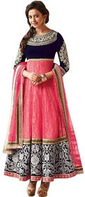 Florence Women's Pink Net Embroidered Salwar Suit(SL011)