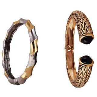 Voici France - 2Pcs Fashion Charm Bracelet Sparkly Bangle Adjustable Open Exquisite Bracelet Jewellery