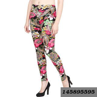 Women'S Multicolor Printed Stretchable Jegging