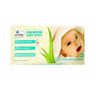 Members Mark Baby Wipes Premium Pack of 3 (80 Wet Wipes per Pack) This item is non-returnable