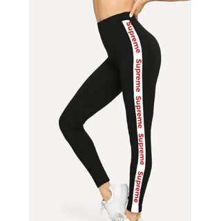 moderate cost best service high quality Code Yellow Women's Girl's Stretchable Supreme Letter Printed Leggings /  Gym Wear /Yoga Wear /Sport's Wear