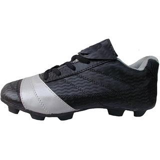 Port Mens Stylish Nitro Black Shoes For Football Players