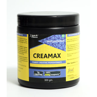 Healthvit Fitness Creamax CREAPURE German Made Purest Creatine Monohydrate Powder 300 Grams (Unflavored)