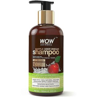WOW Skin Science Apple Cider Vinegar No Parabens  Sulphate Shampoo 300 ml