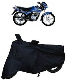 Premium Quality Black Matty Two Wheeler Dustproof Body Cover With Mirror Pockets For TVS STAR SPORTS