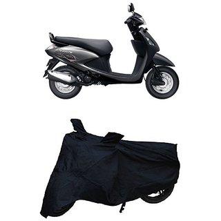Premium Quality Black Matty Two Wheeler Dustproof Body Cover With Mirror Pockets For HERO PLEASURE