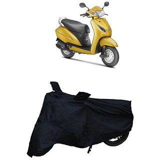 Premium Quality Black Matty Two Wheeler Dustproof Body Cover With Mirror Pockets For HONDA ACTIVA 5G