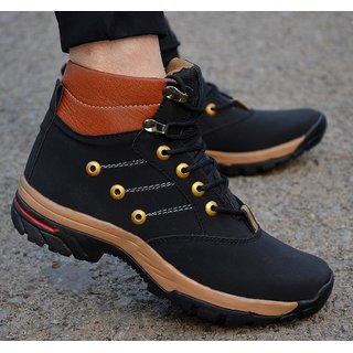 Aadi Men Black Lace-up Casual Shoes