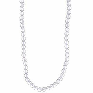 Crystal Mala Stone of Clearer Thinking, Standard, White