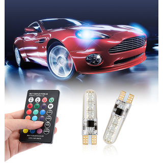 LED lights T10 RGB LED Bulbs with Remote Controller RGBW FLASHER For Bike and Car