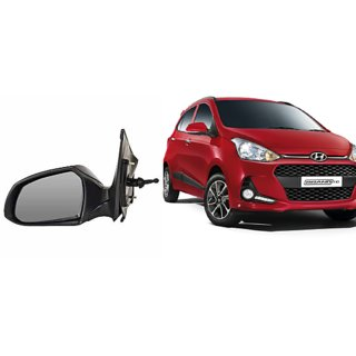 Side door mirror for Hyundai Grand I10 manual with adjustable Knob Type Left (Passenger side) in Genuine Shiva