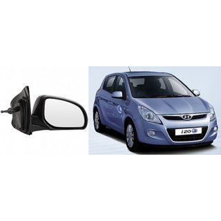 Side door mirror for Hyundai I20 old mod.  adjustable type with adustable knob Right (Driver side) in Genuine Shiva