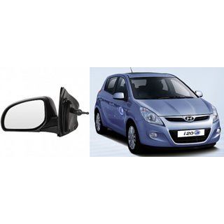 Side door mirror for Hyundai I20 old mod.  adjustable type with adustable knob Left (Passenger side) in Genuine Shiva