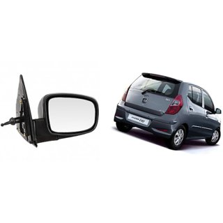 Side door mirror for Hyundai I10 Kappa Model. manual adjustable with Knob Right (Driver side) in Genuine Shiva