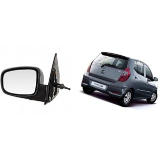 Side door mirror for Hyundai I10 Kappa Model. manual adjustable with Knob Left (Passenger side) in Genuine Shiva
