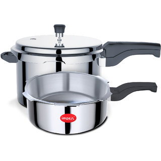 Impex IPC 5C3 Aluminium Pressure Cooker Combo Set of 5 Lte 3 Ltr With Induction Base