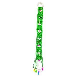 PCA Macrame Wall Hanging Key Hanger Green