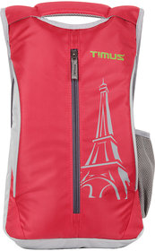 Timus Class 19 Litres Red College/School Casual Polyester Backpacks